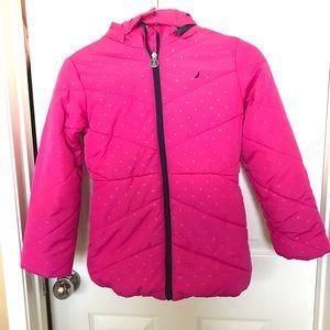 NAUTICA Since 1983 SIZE 8 Pink Polkadots Jacket